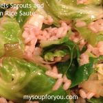 Brussels Sprouts and Brown Rice Saute