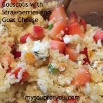 Couscous with Strawberries and Goat Cheese